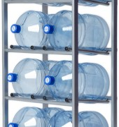 Подставка для 8-ми бутылей, доставка питьевой воды в Одинцово, бесплатно,купить кулер, офис, бутилированная, бутыль 19 л