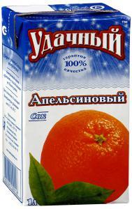 Сок «Удачный» апельсиновый